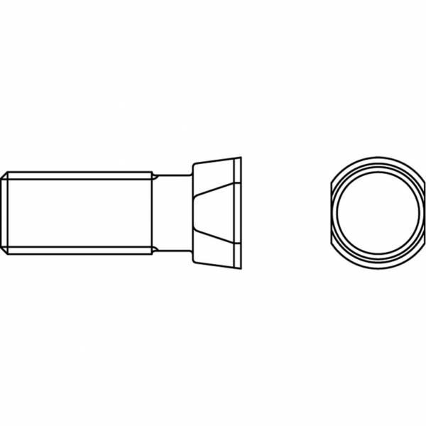 Konusschraube 12.9 mit Mutter - M 12 x 35