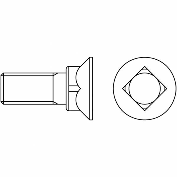 Schraube mit Mutter DIN 608/12.9 - M 10 x 30