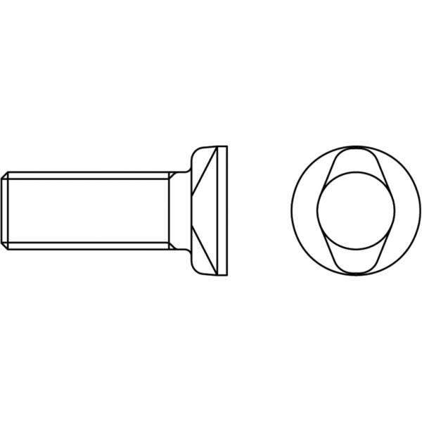 Schraube mit Mutter ISO/DIS 5713 - 8.8 - M 12 x 45