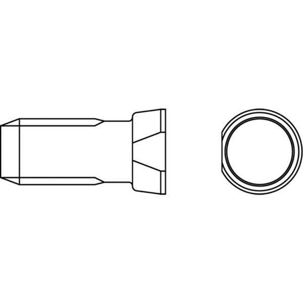 Konusschraube 12.9 mit Mutter - M 14 x 45