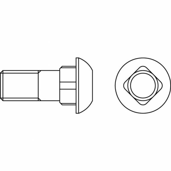 Schraube mit Mutter (DIN 603) 12.9 - M 12 x 30