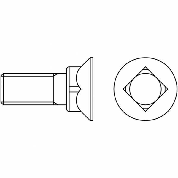 """Schraube mit Mutter (DIN 608) 8.8 UNF - 5/8"""" x 90"""